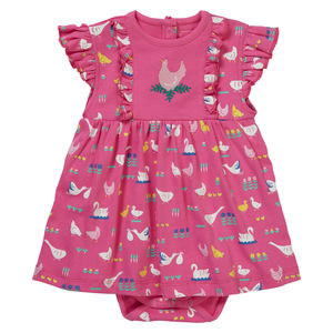 Bird Babble Baby Body Dress