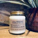 Maple And Vanilla Bean Scented Soy Candle
