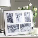 Five Aperture Silver Plated Fine Multi Photo Frame