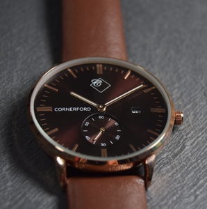 Copper Gold Timepiece Watch - watches