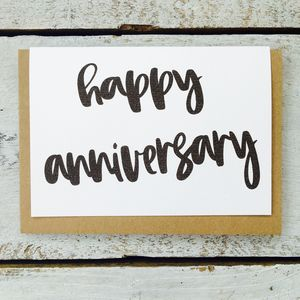 'Happy Anniversary' Card - shop by category
