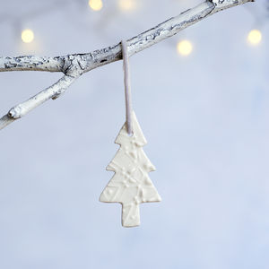 Porcelain Christmas Tree Decoration