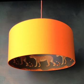 Cole And Sons Leopard Walk Lampshades In Tangerine