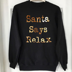Christmas Santa Says Relax Jumper - jumpers & cardigans