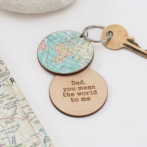 You Are My World Map Keyring - keyrings