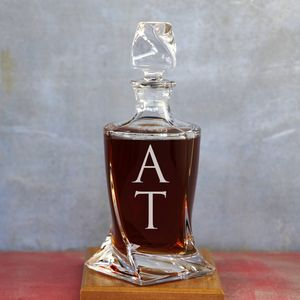 Monogram Twisted Crystal Decanter