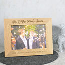 Mr And Mr Solid Oak Photo Frame