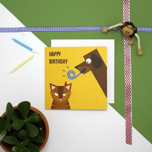 Angry Cat Birthday Card - sale