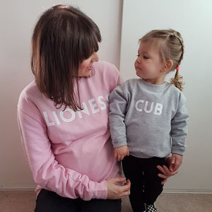 'Lioness And Cub' Sweatshirt Jumper Set - clothing