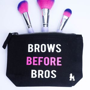 'Brows Before Bros' Make Up Bag