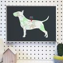 Personalised Map With Bull Terrier