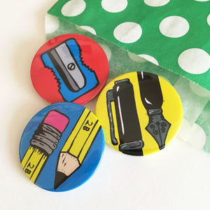 Back To School Pencil Badge Set - children's jewellery