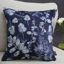 Forest Textures Botanical Print Cushion