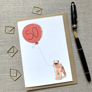 Personalised Brussels Griffon Birthday Card