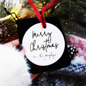 Merry Christmas From Us Ceramic Keepsake Decoration