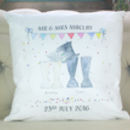 Personalised Wedding Welly Boot Cushion Cover