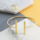 Gold Adjustable Bar Ring And Bangle Jewellery Set