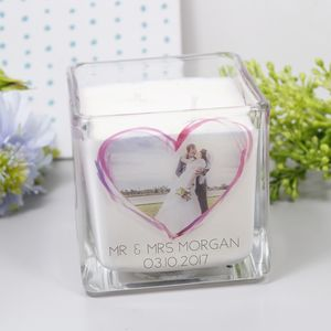 Wedding Photo Scented Anniversary Candle - room decorations