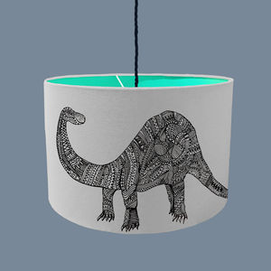 Dinosaur Lampshade With Fabric Colour Options