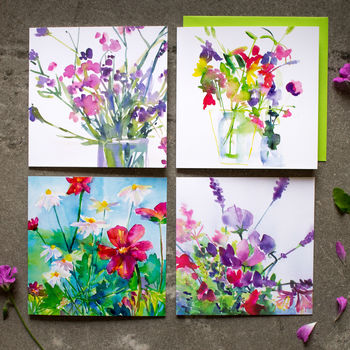 Flower Garden Card - Collection Three