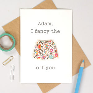 I Fancy The Pants Off You Valentine's Boxer Shorts Card - funny cards