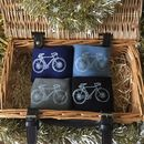 Hand Printed Racer Bike Socks