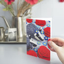Badgers And Roses Greeting Card