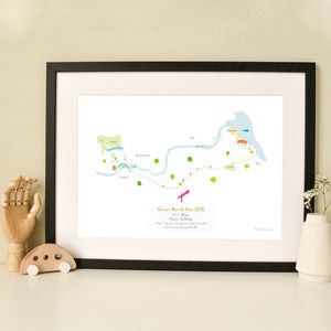 Great North Run Half Marathon Route Map Print - drawings & illustrations