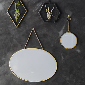 Portrait Or Landscape Gold Oval Mirror