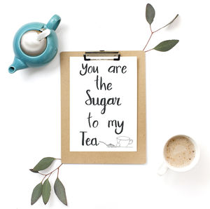 Tea And Sugar Print - posters & prints