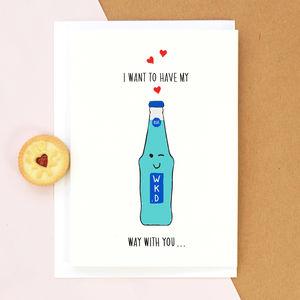 'Wicked Way' Funny Valentine's Card - funny valentine's cards