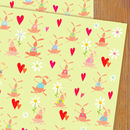 Rabbits Gift Wrap Two Sheets