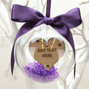 Personalised 'Any Text' Christmas Bauble Decoration - baubles & hanging decorations