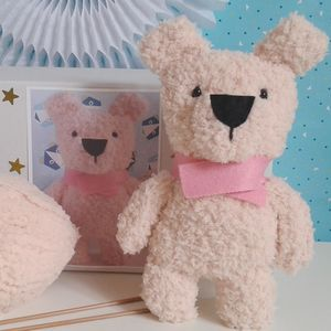 Fluffy Christmas Teddy Bear Knitting Kit
