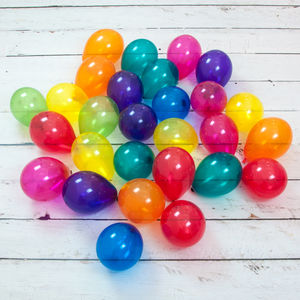 Pack Of 28 Jewel Rainbow Mini Balloons