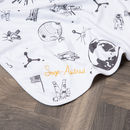 Space Age Baby Blanket With Personalised Option