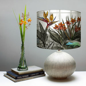 Tropical Botanical Monochrome Lampshade - lighting