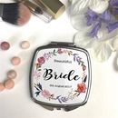Personalised Posey Wreath Compact Mirror