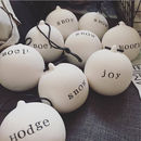 Personalised Handmade Christmas Bauble