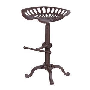 Industrial Stool In Black