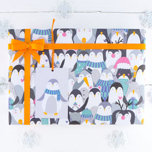 Penguin Christmas Wrapping Paper - shop by category