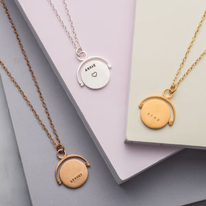 Personalised Spinning Necklace - birthday gifts