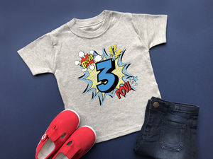 3rd Birthday T Shirt, Comic Style