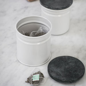 Steel And Marble Canister - canisters
