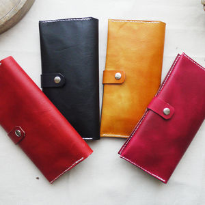 Leather Bi Fold Purse - purses