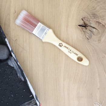 Personalised Wooden Paint Brush