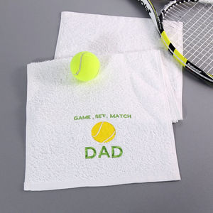 Personalised Tennis Towel - gifts for teenagers