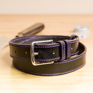 Vibe2 Handstitched Border English Leather Belt