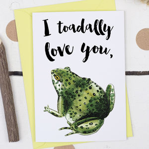 I Toadally Love You, Valentine's Card - shop by occasion