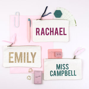 Personalised Glitter Name Pencil Case